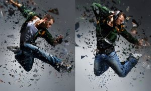Shatter 2 Photoshop Action G5ENVR