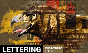 Textum - Lettering Photoshop Action K68Q3N