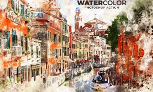 Watercolor Photoshop Action XEQNK2