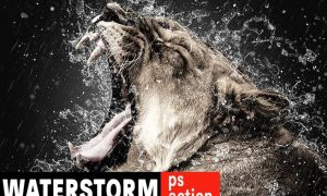 WaterStorm Photoshop Action 2AHW34