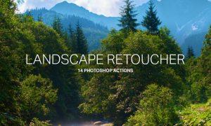 14 Landscape Retouching Actions E2FABH