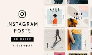 22 Animated Instagram Post Templates - Minimalist