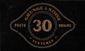 30 Noise or Grunge Overlay Textures 2QFB57