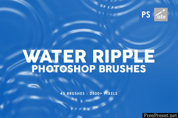 45 Water Ripple Photoshop Brushes - ABR