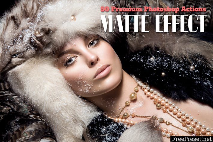 50 Premium Matte Photoshop Actions MAK3JK