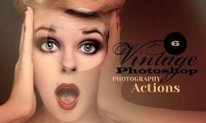 6 Vintage Photo Actions L4NG7A
