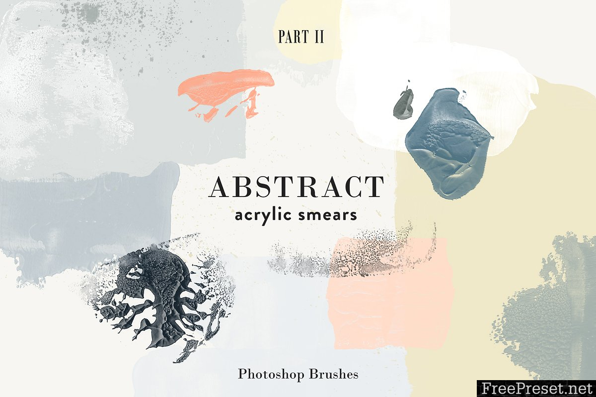 Abstract Acrylic Smears - PS Brushes 3337018