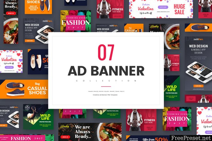 Ad Banner Collection - RBYV8S - PSD