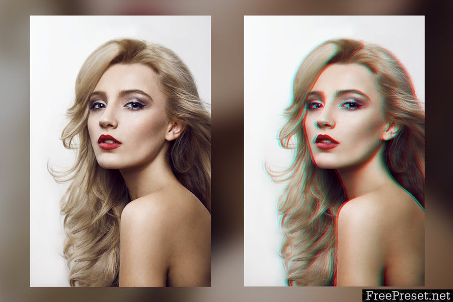 Anaglyph Photoshop Actions V1