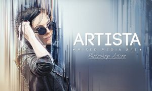 Artista - Mixed Media Art Photoshop Action PYU5M9