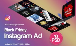 Black Friday Instagram Banners Ads - 10 PSD - RP75M2