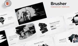 Brusher Powerpoint Template 62JVTN - PPTX