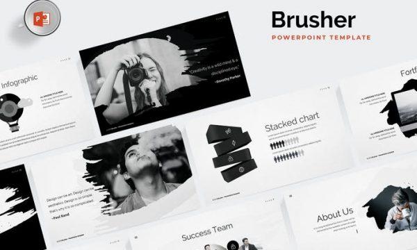 Brusher Powerpoint Template 62JVTN - PPTX