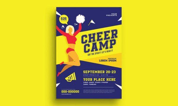 Cheer Camp Flyer UE4XES -  AI, PSD