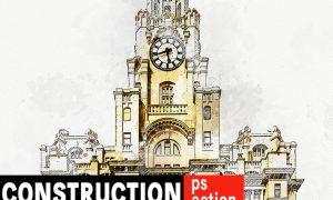 Construction - Architectural Art Photoshop Action R6PJ827