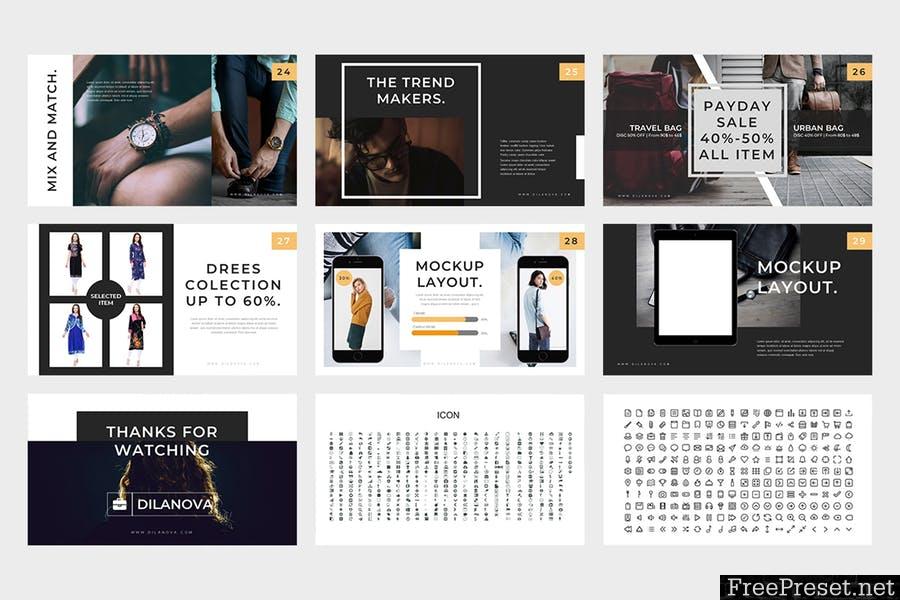 Dilanova : Fashion Powerpoint Presentation 475LWC - PPTX