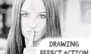 Drawing Effect Photoshop Action SEJN4V5
