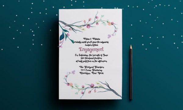 Engagement Party Invitation Card K7Q7B9 - PSD
