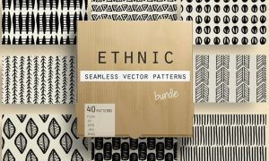 Ethnic Seamless Vector Patterns 52NWAE - AI, EPS, JPG, PNG