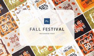 Fall festival Instagram Post N9BL7L - PSD