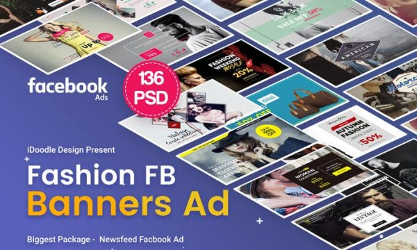 Fashion Facebook Ad Banners - 136 PSD - FAHFD8