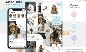 Fashion Puzzle - Instagram Posts PDM8FQA - PSD, PDF