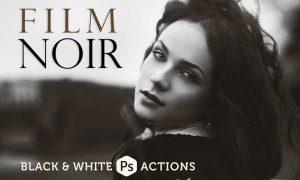 Film Noir B&W Photoshop Actions J5QK3Z