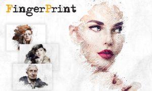 Fingerprint CS4+ Photoshop Action BST428G