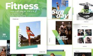 Fitness & Gym instagram pack 3.0 3852812