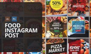Food Instagram Post W6LSBY - PSD, AI