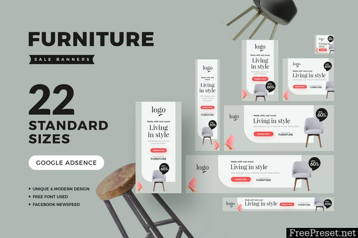 Furniture Sale Banners - YG47M8 - PSD