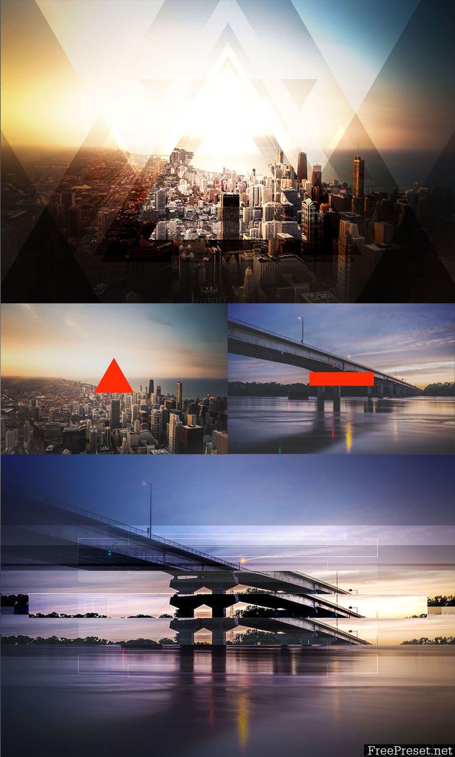 Geometric Haze 2 Photoshop Action 8EM97S