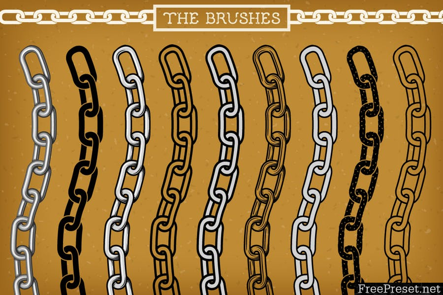 Illustrator Chain Brushes - EPS, AI