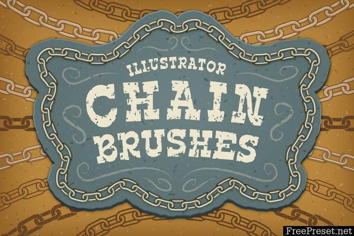 Illustrator Chain Brushes - EPS, AI