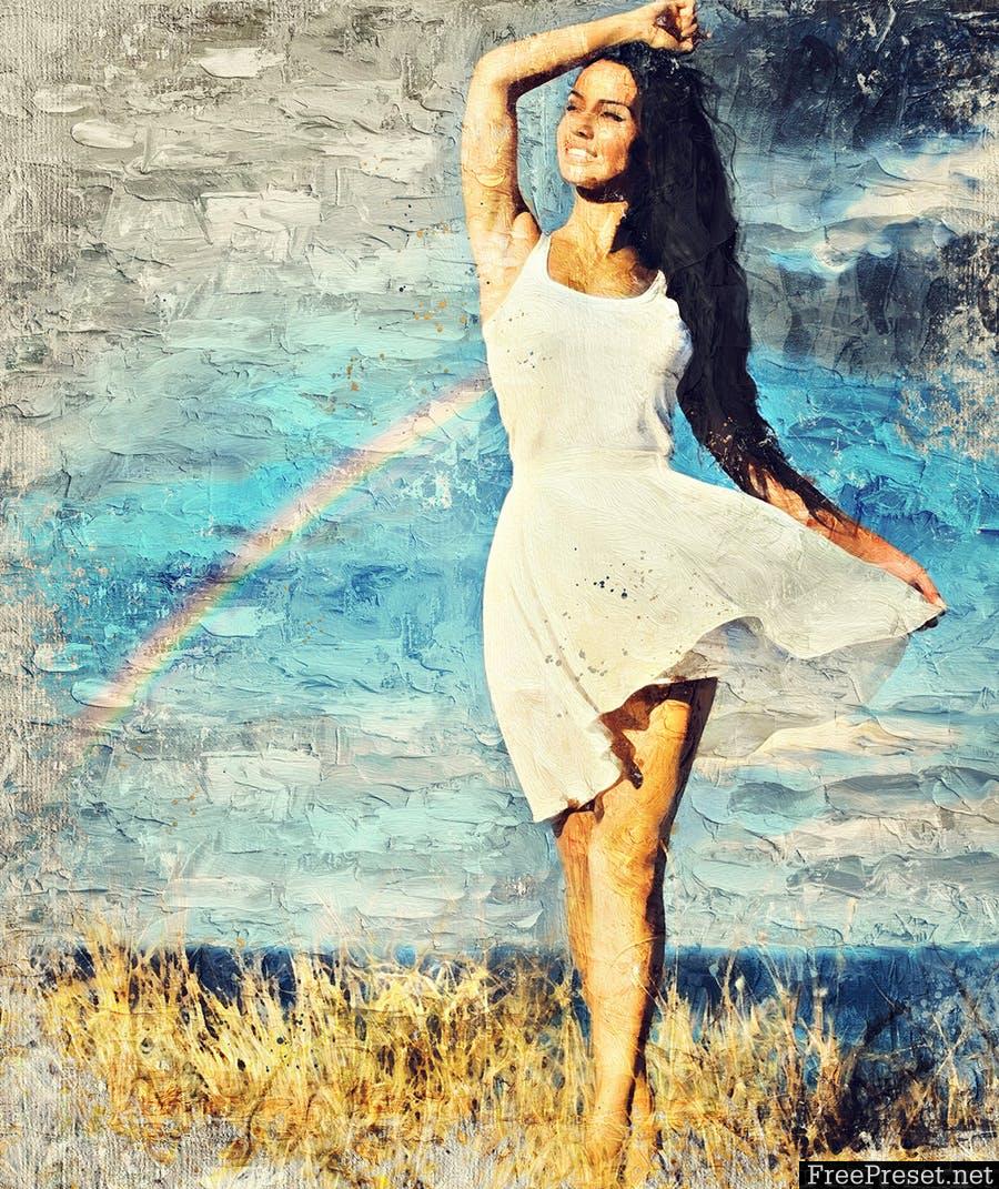Impasto Oil Paint Photoshop Action 3T5KZZ