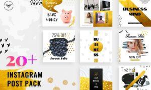 Instagram Post Social Media Template 3CBMR75 - PSD, PNG