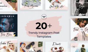 Instagram Post Templates 35QH2WV - PSD, JPG