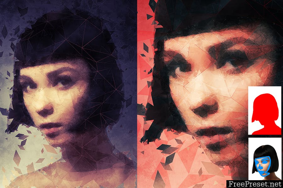 Low Poly Art Photoshop Action 8H368R