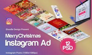 Merry Christmas Instagram Posts - 12 PSD - 6LZT76