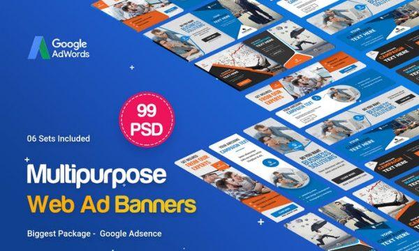 Multipurpose Banners Ad - 99 PSD [ 06 Sets ] UZHL8F