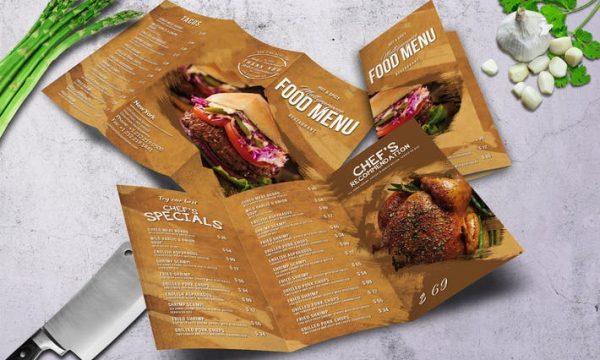 Multipurpose Food Menu - A4 & US Letter - Trifold