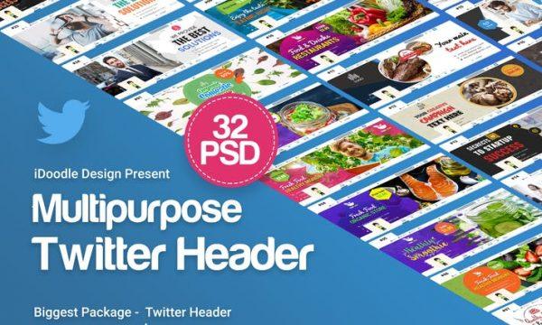 Multipurpose Twitter Header - 32 PSD - TJE4EN