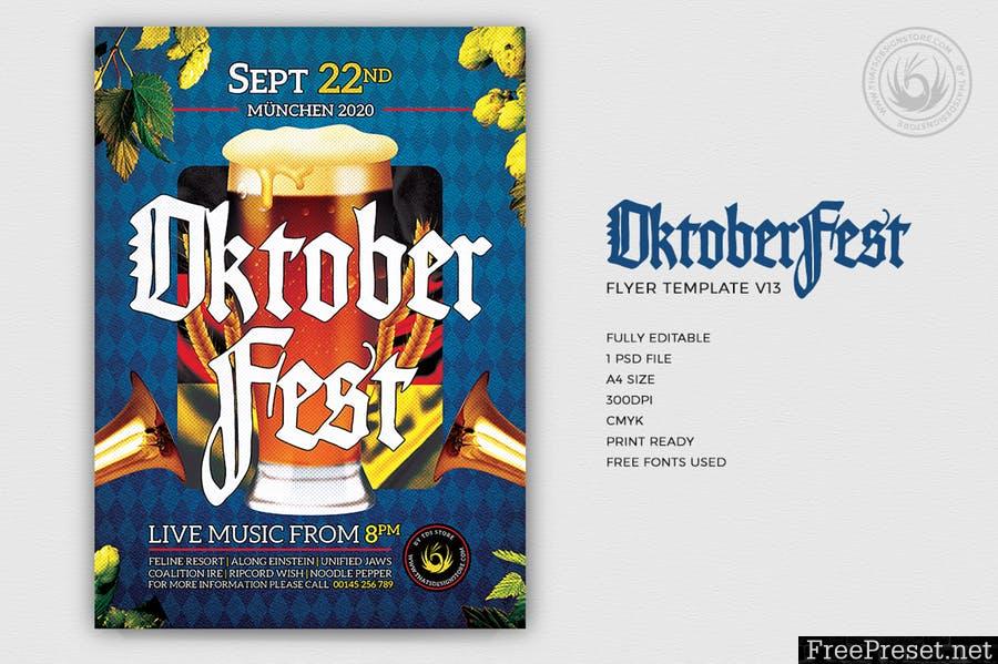Oktoberfest Flyer Template V13 ZVHLYG - PSD
