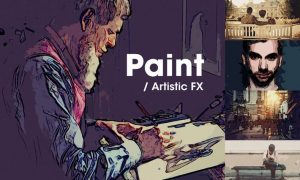 Paint | Artistic FX Photoshop Template GJ8M2N