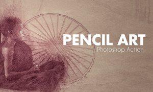 Pencil Art - Photoshop Actions 5YP6GZ