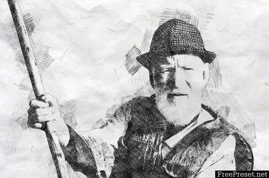 Pencil Sketch Photoshop Action JBYJSE