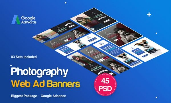 Photography Banners Ad - 45PSD [03 Sets] - D8VM5N