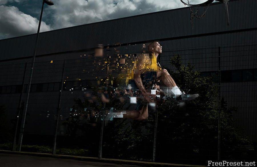 Pixelum - Digital Pixelation Photoshop Action 9LSGXS