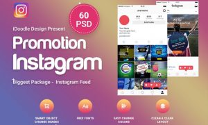Promotion Instagram - 60 PSD - GTGGSF