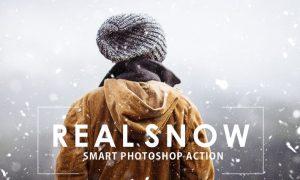 Real Snow Photoshop Action 7WY7Y7